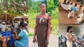 Heart of gold: Young lady posted to village as teacher sews new uniforms for her poor students