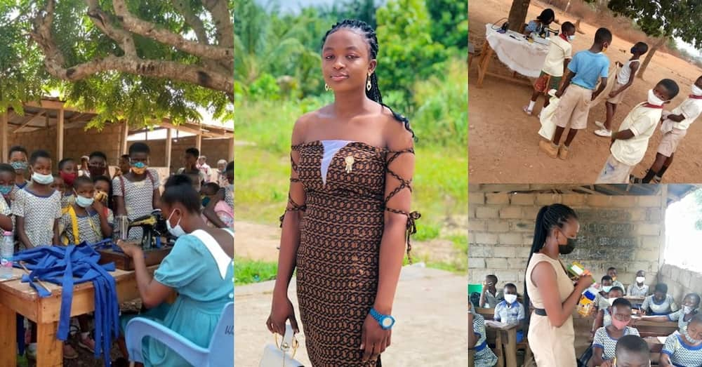 Ama Val: NSS lady posted to teach sews free uniforms for all needy pupils in community