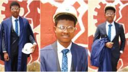 Nigerian man celebrates bagging 1st class in petroleum engineering, shares adorable photos