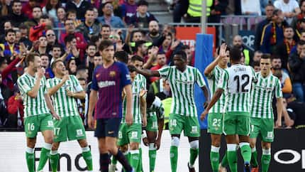 Lionel Messi scores brace as 10-man Barcelona suffer 4-3 defeat to Real Betis at the Camp Nou