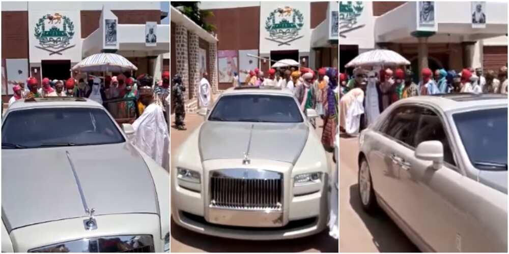 Abdul Samad Rabiu gifted Emir of Kano Rolls Royce