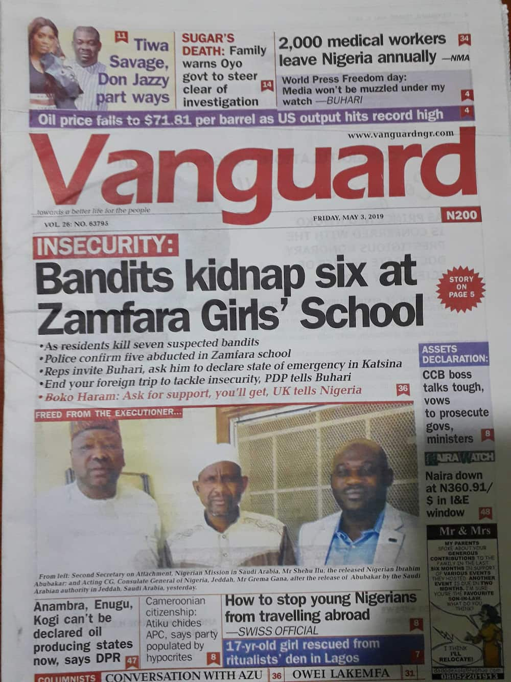 Nigerian newspaper review for May 3: PDP attacks Buhari over