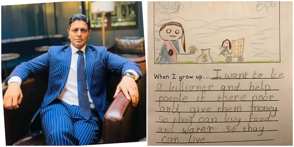 Man Shares the 'Interesting' Note he Found in His Little Daughter's School Book about her Dreams, Causes Stir