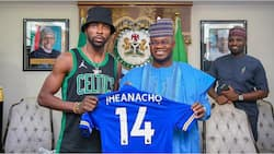 Another Super Eagles Star visits Governor Yahaya Bello of Kogi State ahead of 2023 elections