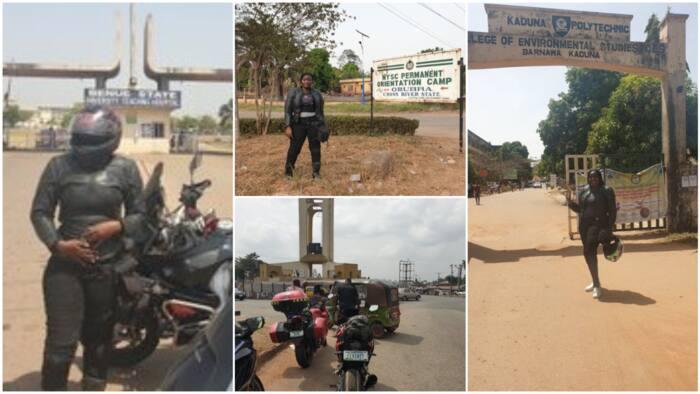 Nigerian lady rides bike from Lagos to Kaduna, Uyo, Minna, Ilorin in 7 days, sets new self-record