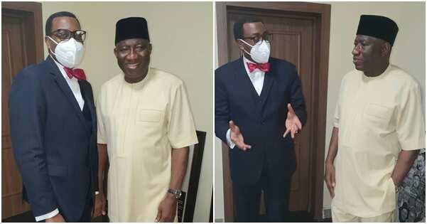 Good luck Jonathan holds crucial meeting with Akinwumi Adesina (photos)