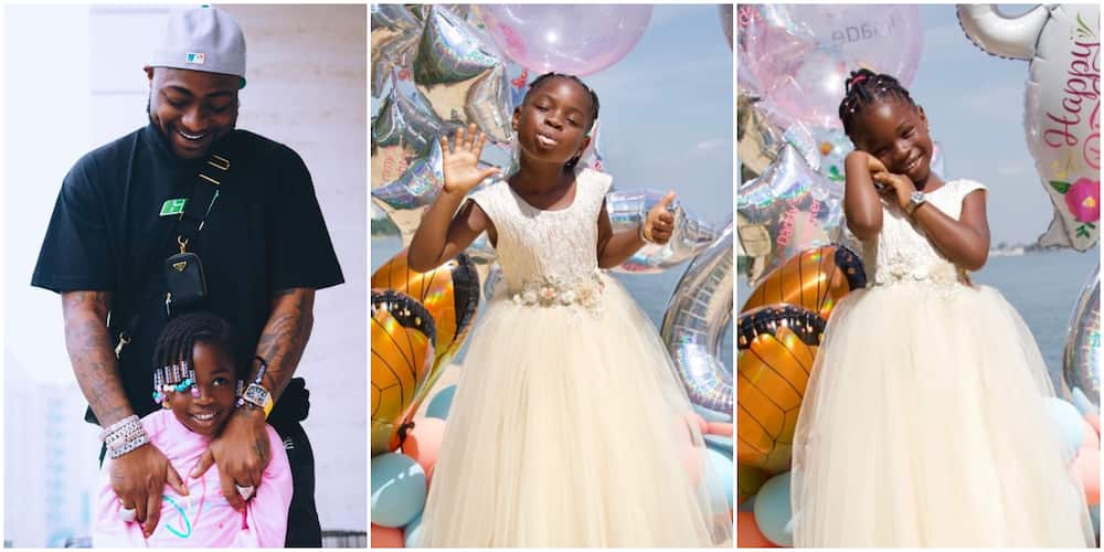 Imade at 6: I Love the Smart Young Girl You Have Grown to Become, Proud Daddy Davido Writes
