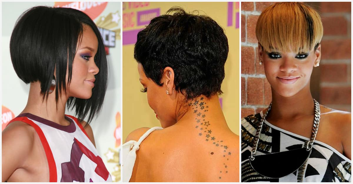 Rihanna S Short Hairstyles Front And Back View Legit Ng