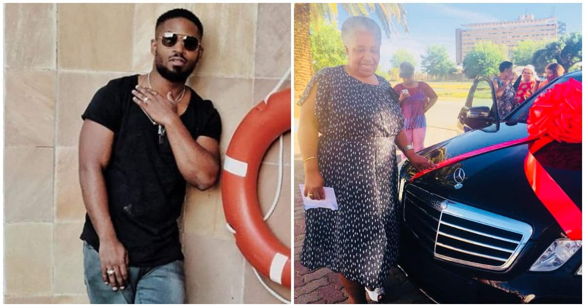 South African musician blessed his mother with a brand new Mercedes car