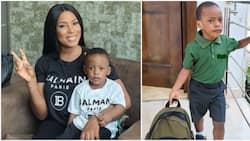 Mother's day: Linda Ikeji brags heavily about parenting skills as teacher says her son, Jayce is a kind boy