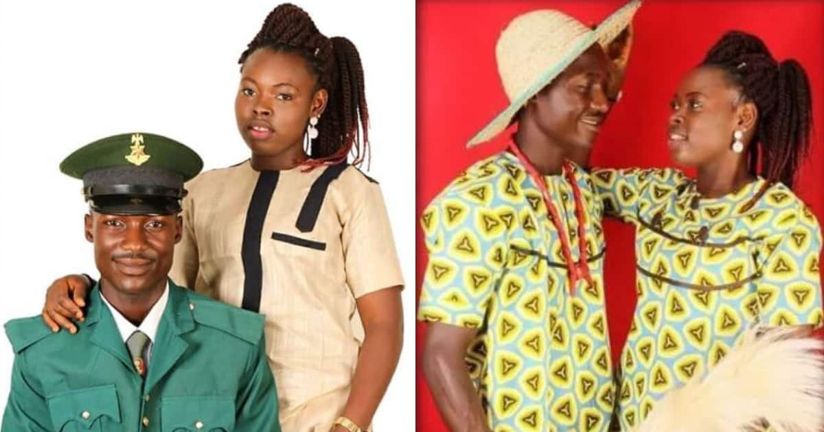 Pre-wedding photos of young Nigerian soldier and his beautiful fiancee create a love buzz