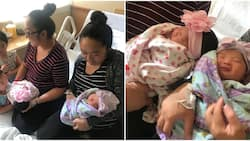 Identical twin sisters give birth to bouncing baby girls hours apart (photos)