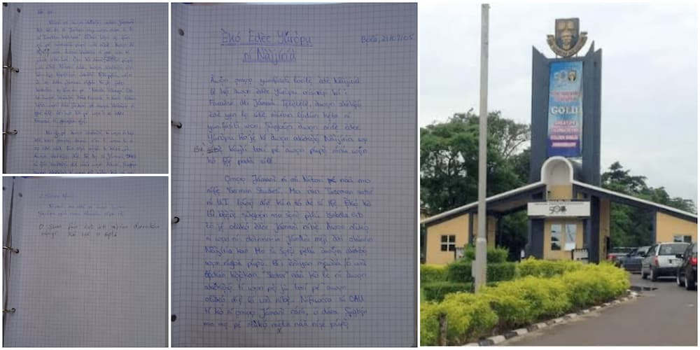 Nigerians react as German man who schooled in OAU shows off his Yoruba assignment with tonal marks