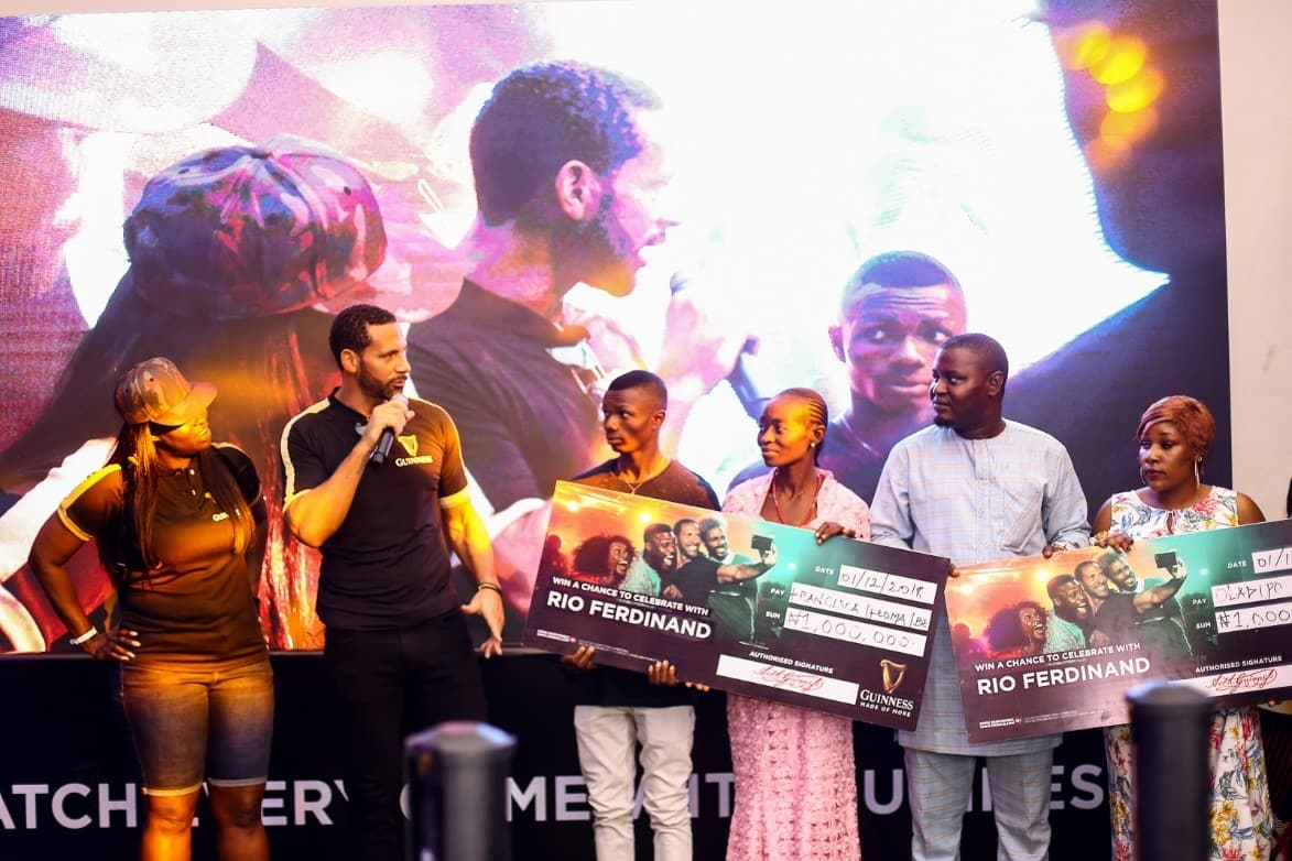 RIO FERDINAND BONDS WITH FANS MADE OF MORE IN YABA