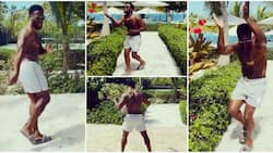 Kevin Hart breaks out in impressive dance moves to Wizkid's song as he celebrates success of Fatherhood movie