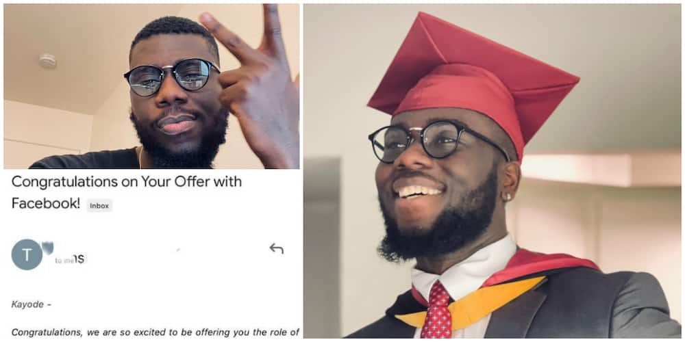 Massive Celebration as Nigerian Man Lands Job with Facebook, Shares the Email he Received, Many React