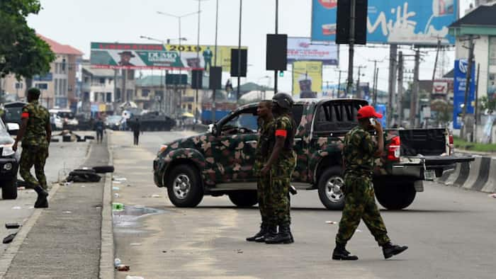 Soldiers intercept 73 young men in 5 trucks travelling to Imo state with 47 motorcycles