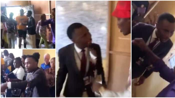 Drama in class as senior colleagues confront, bust pastor who told 100 level students to sow N20k seed in clip