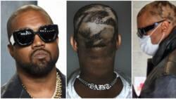 Kanye West displays strange new 'patchwork' haircut, fans show concern for rapper