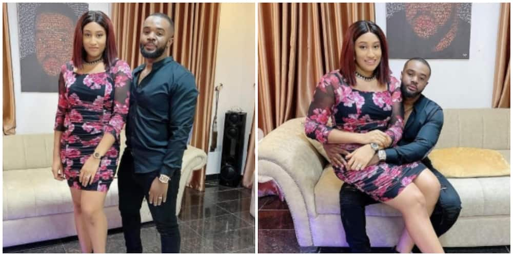 Photos of Williams Uchemba and his wife.