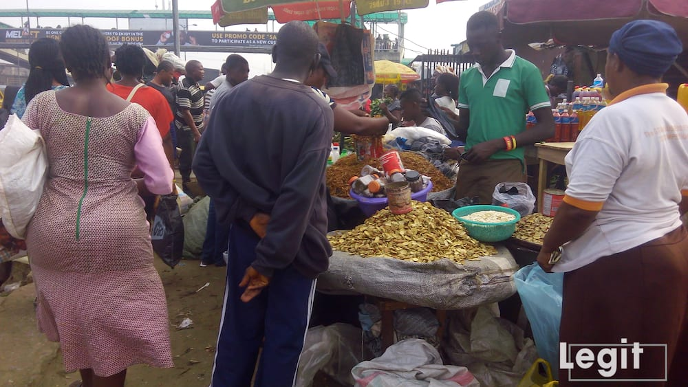 Ogbono and crayfish remain one of the most purchased item in the market lately, traders hinted. Photo credit: Esther Odili