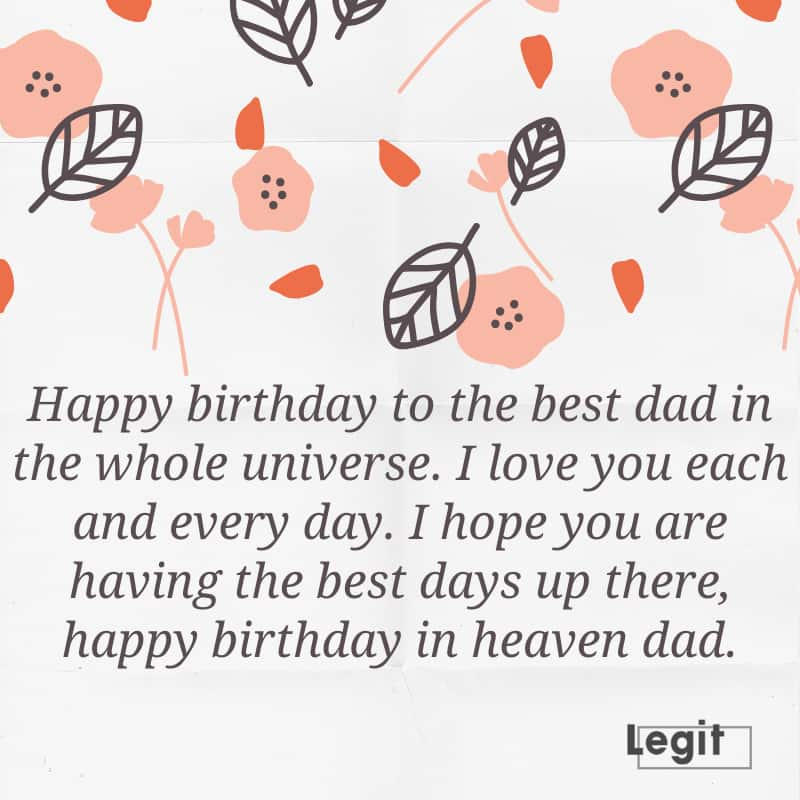 happy birthday to my dad in heaven