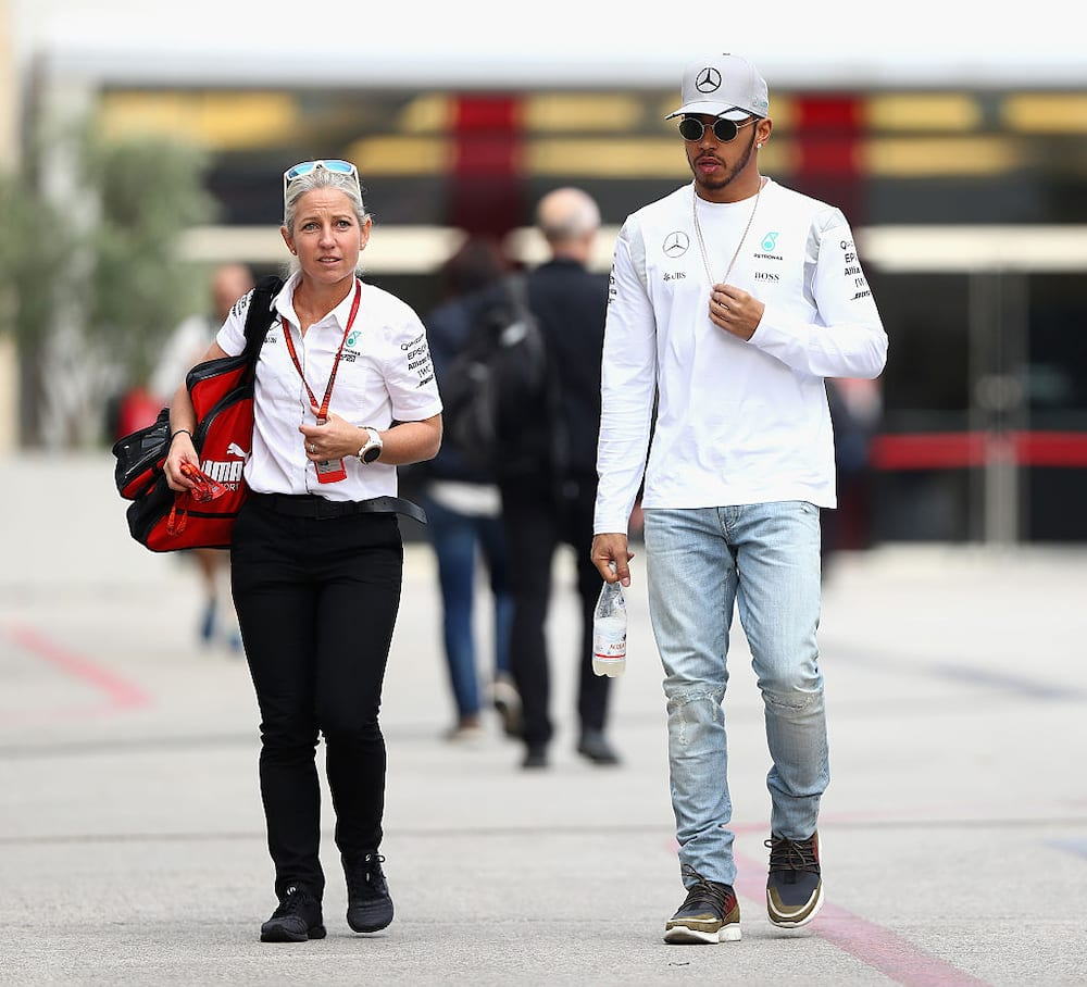 Lewis Hamilton physiotherapist