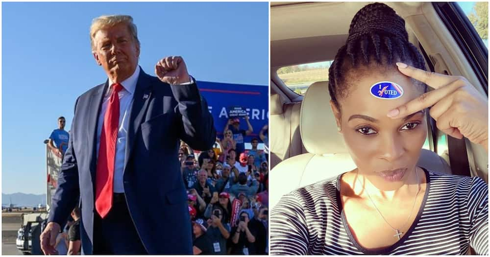 US elections: Actress Georgina Onuoha clamps down on Nigerians rooting for Trump to win
