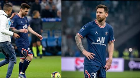 Fan invades pitch during Marseille's clash with PSG, tries to stop Messi's attacking move