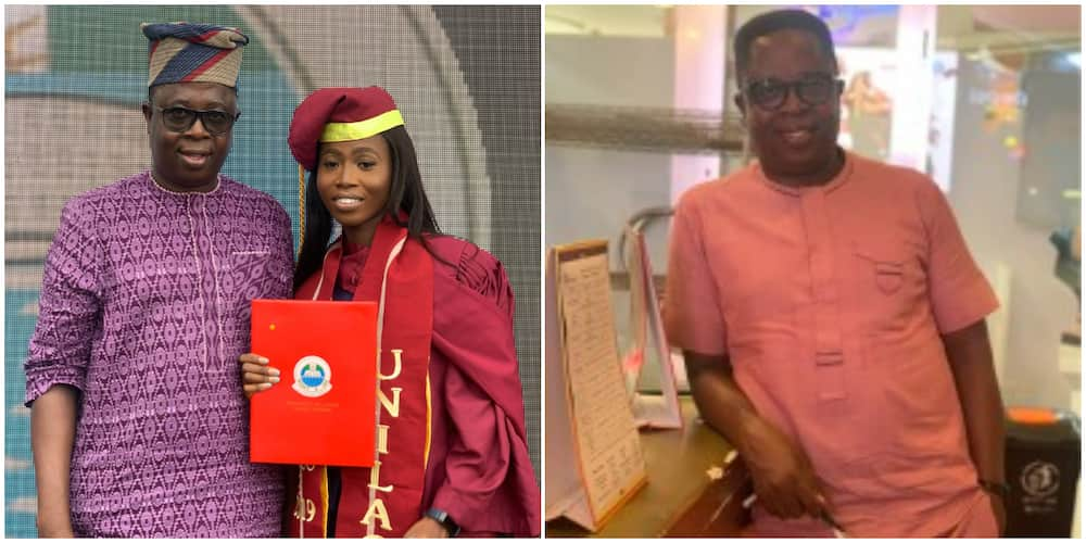 Man hails his daughter for graduating with first-class from UNILAG, says she made him proud