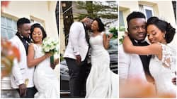Beautiful Nigerian couple tie the knot 7 years after they met at a motor park (photos)