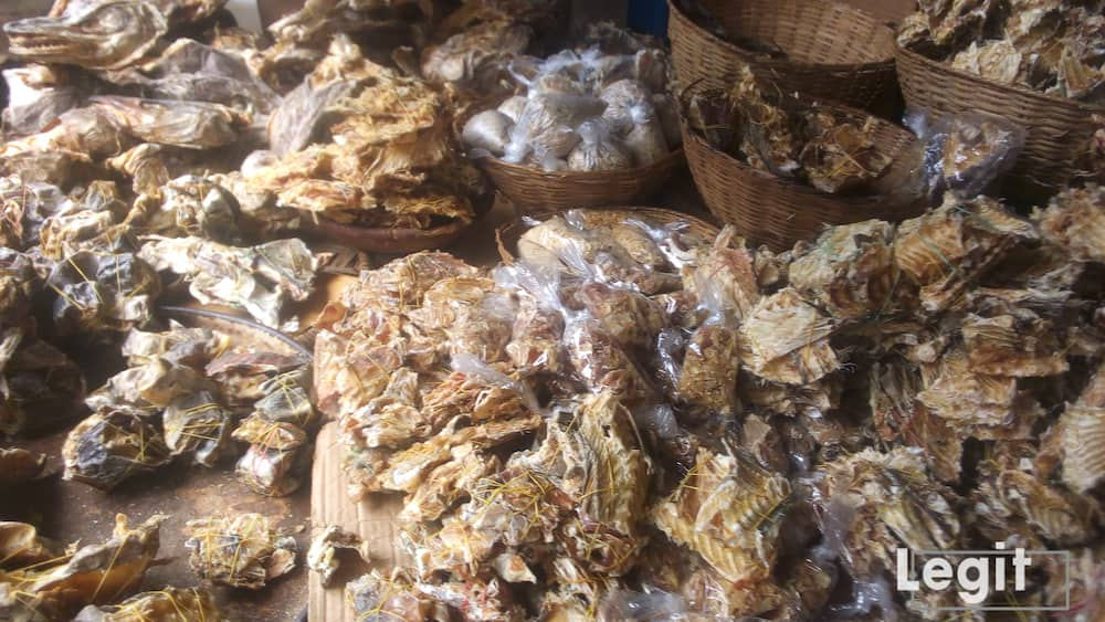 Stock fish is also very expensive in the market now and some buyers cannot prepare delicious soups without this item which makes it an important item on buyers list. Photo credit: Esther Odili