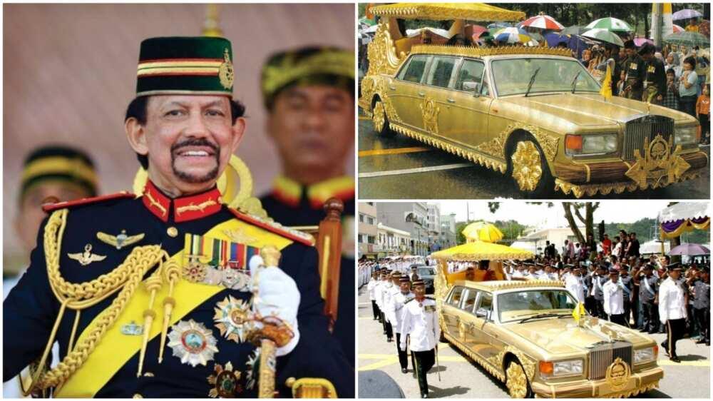 Sultan Hassanal Bolkiah: Hamshakin mai arzikin da ya mallaki Rolls Royce 500, N7m kudin askinsa