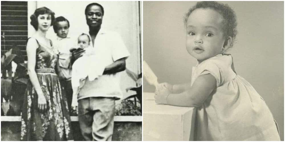 No wonder she's so pretty: Nigerians gush over throwback photo of singer Sade Adu with her brother and parents