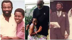 Pictures of Nigerian governor as a youth emerge as he celebrates 40th wedding anniversary with wife