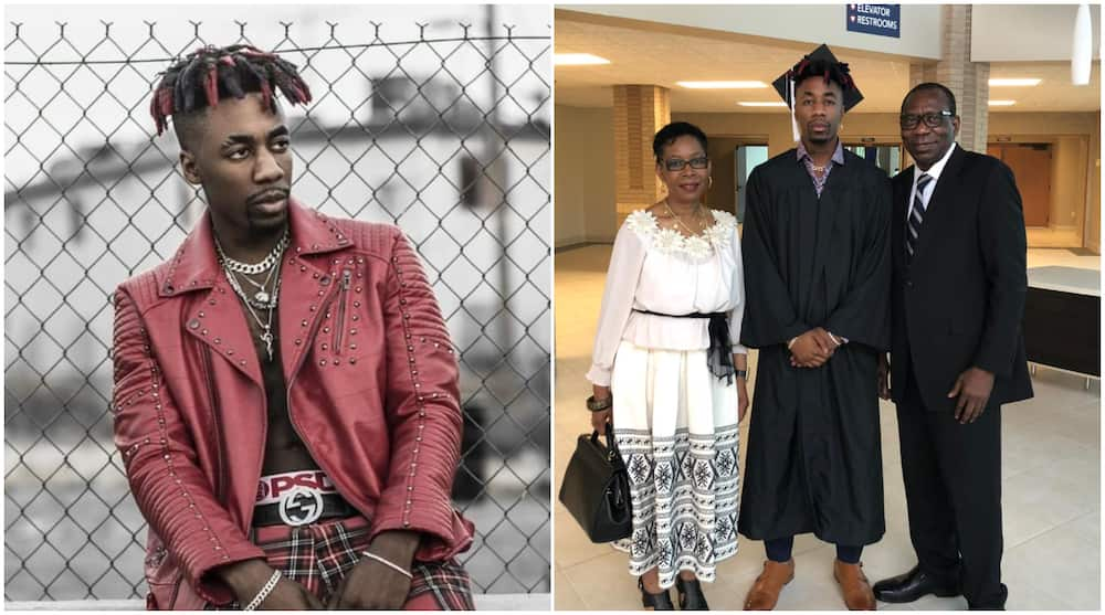 Canadian Rapper Dax Honours His Igbo Parents Who Made Big Sacrifices for Him, Shares Throwback Photo