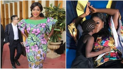 Mercy Johnson shares adorable kiss with little daughter (photo)