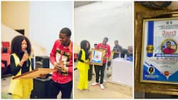 Rivers State University SUG official gives boyfriend award for being the love of her life, photos cause stir