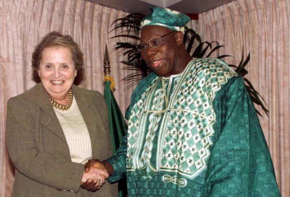 Olusegun Obasanjo in the United States