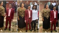 Nigerians react to photos of newly elected Delta Poly SUG President with school rector, many wonder who is who