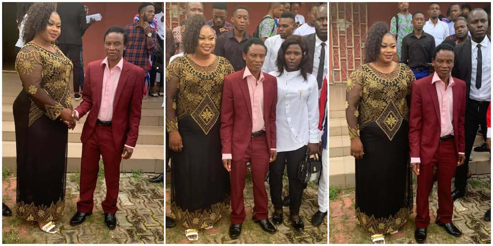 Photos of newly elected Delta Poly SUG President with the school rector sparks debate on social media