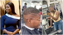 Beautiful lady rocks beautiful haircut, sets social media on 'fire' (photos)