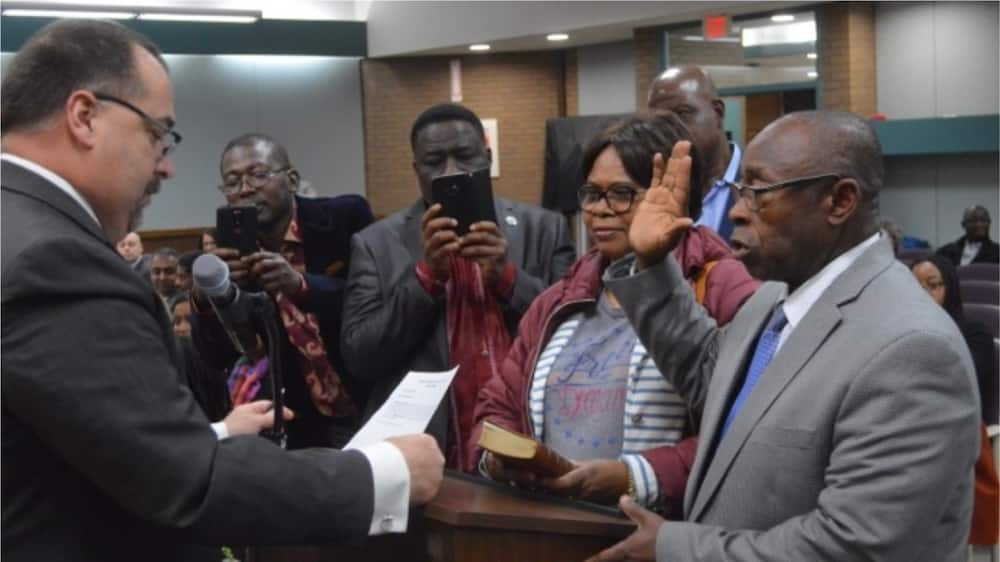 A picture showing the swearing in ceremony of the Nigerian that took place on Monday, January 6. Photo credit: Global Patriot News