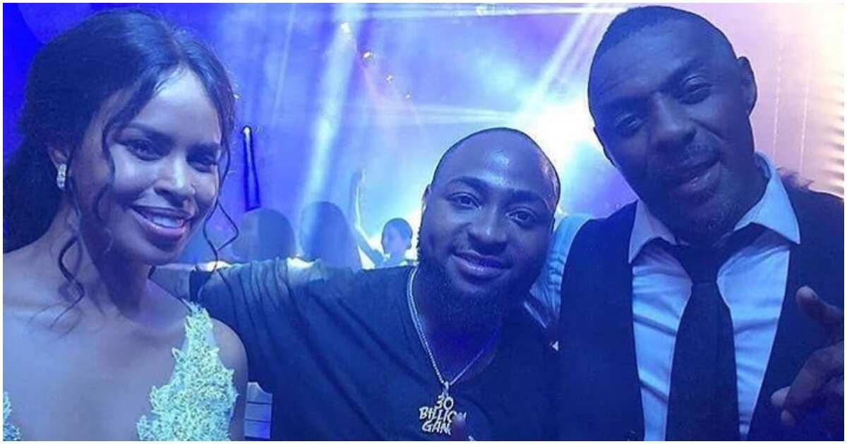 Watch Moment Davido Made Renowned Fashion Designer; Christian Loubotin Lose His Home Training At Idris Elba's Wedding In Morroco