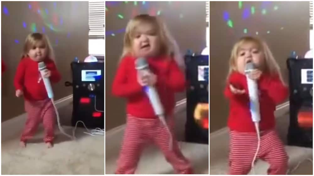 One Direction would be proud of her performance.