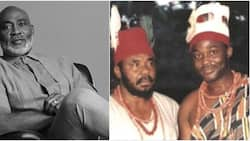 You are ageless: Fans gush over RMD as he shares 23-year-old throwback photo with Pete Edochie