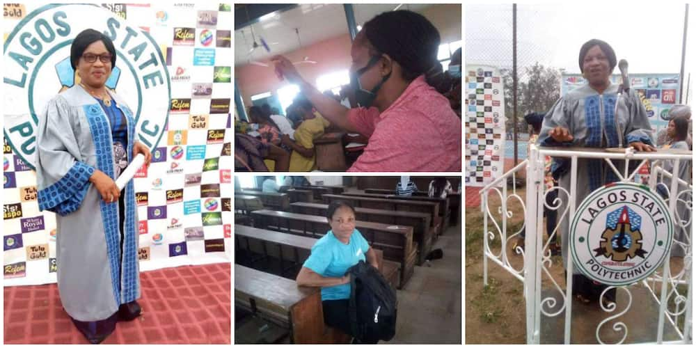 50-Year-Old Mother of 5 Returns to School, Shares Matriculation and Class Photos, Nigerians React