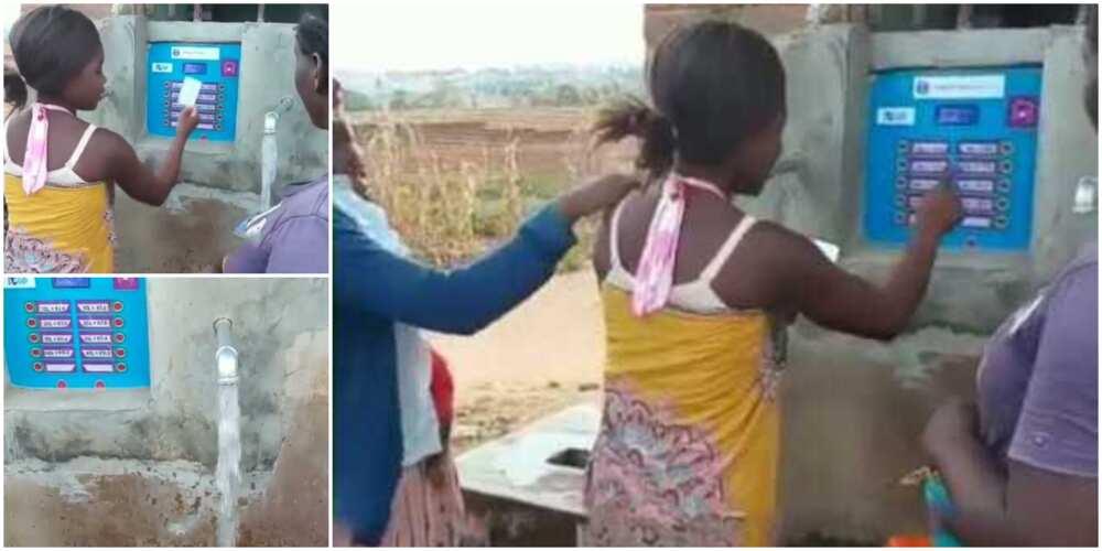 Nigerians react to video of water vending machine
