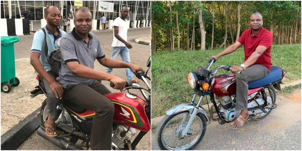 Highly respected police officer Abba Kyari rides Okada on street without security; photos cause stir