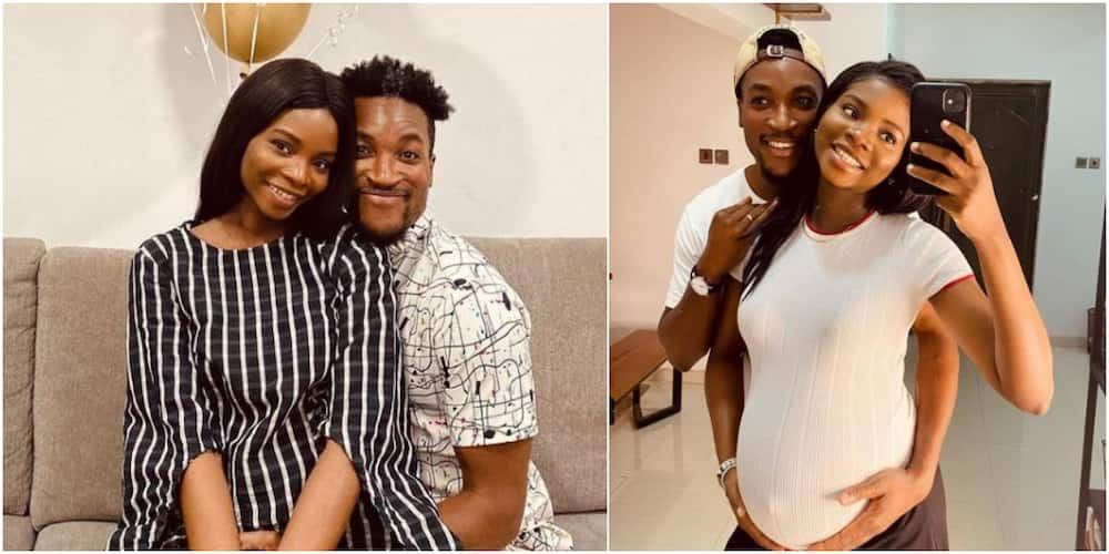 Nigerian celebrity couple Akah and Clair Nnani finally welcome first child